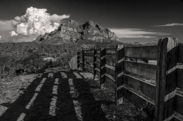 Wall Art - Photograph - Arizona Ranch Fence by Dave Dilli