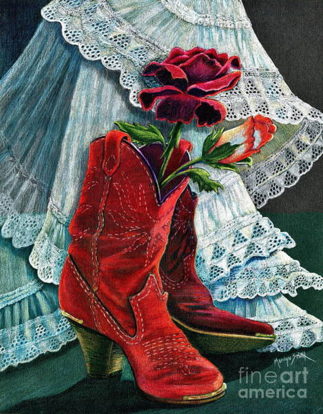 High Heels Drawing - Arizona Rose by Marilyn Smith