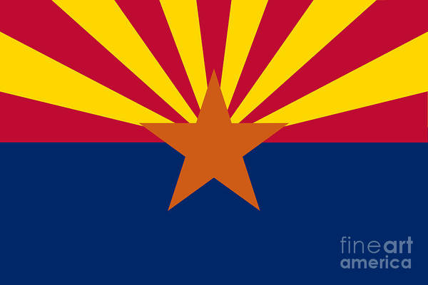 Wall Art - Digital Art - Arizona State Flag Authentic Color And Scale Version by Bruce Stanfield