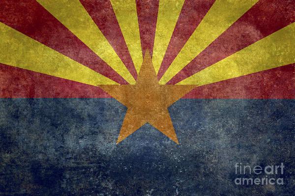 Wall Art - Digital Art - Arizona State Flag by Bruce Stanfield