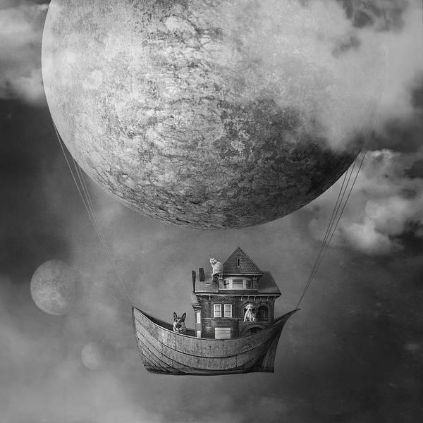 Flying Digital Art - Ark by Beata Bieniak