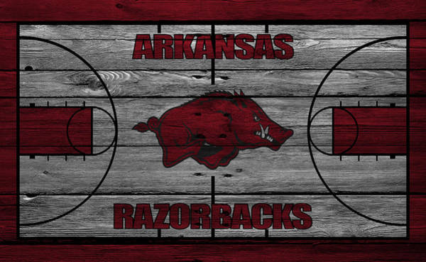 Court Photograph - Arkansas Razorbacks by Joe Hamilton