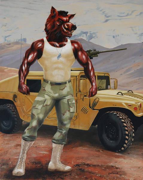 Arkansas Soldier Art Print