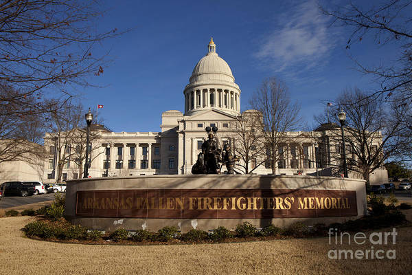 Wall Art - Photograph - Arkansas State Capitol Building In Little Rock by Anthony Totah