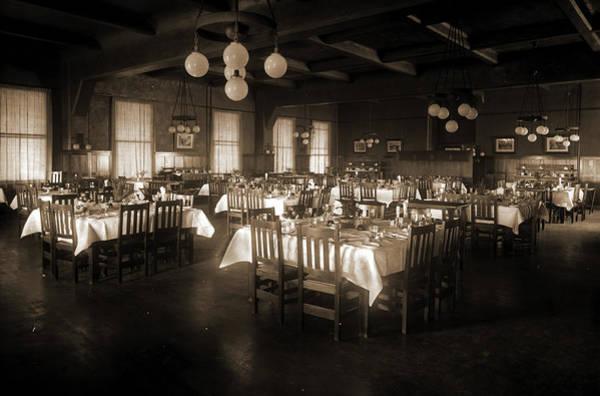 Michigan Drawing - Arlington Hotel, Petoskey, Michigan, Hotels, Dining Rooms by Litz Collection