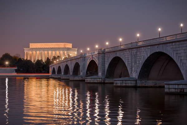 Riverside Photograph - Arlington Memorial Bridge by Eduard Moldoveanu