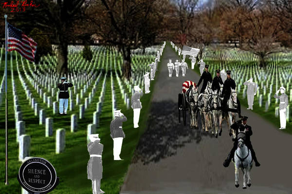 Us Civil War Digital Art - Arlington National Cemetery by Michael Rucker