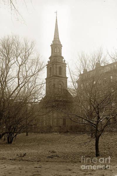 Photograph - Arlington Street Church Unitarian Universalist Boston Massachusetts Circa 1900 by California Views Archives Mr Pat Hathaway Archives