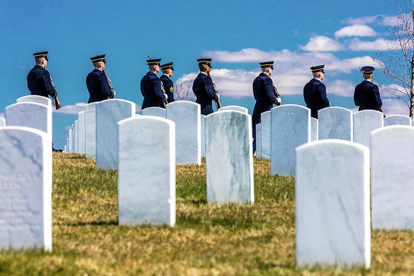 Honor Guard Photograph - Arlington, Washington D.c. - Honor by Panoramic Images