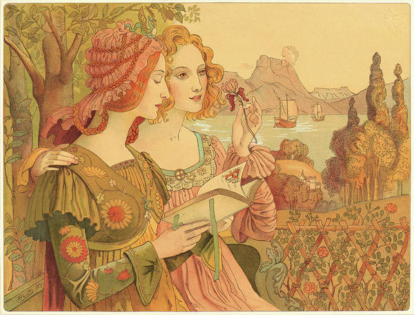 Wall Art - Drawing - Armand Point French, 1861 - 1932. Golden Legend Legende by Litz Collection