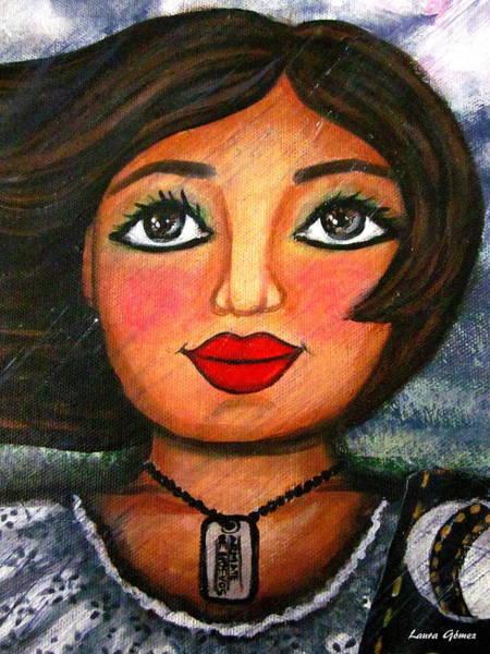 Tormenta Wall Art - Painting - Armate De Huevos En Tiempos Tormentosos - Arm Yourself With Balls In Stormy Days by Laura  Gomez