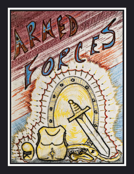 Drawing - Armed Forces by Jason Girard