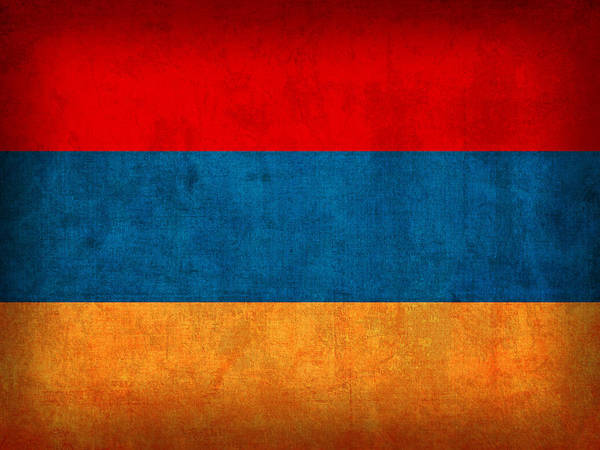 Nation Mixed Media - Armenia Flag Vintage Distressed Finish by Design Turnpike