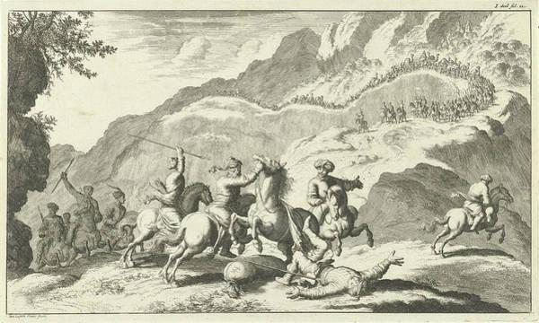 Hoof Drawing - Armenians Attacked By Robbers, Jan Luyken by Jan Luyken
