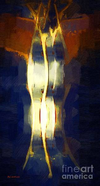 Painting - Arming For Battle by RC DeWinter