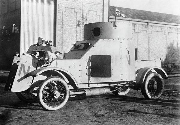 British Armed Forces Photograph - Armoured Car by Library Of Congress