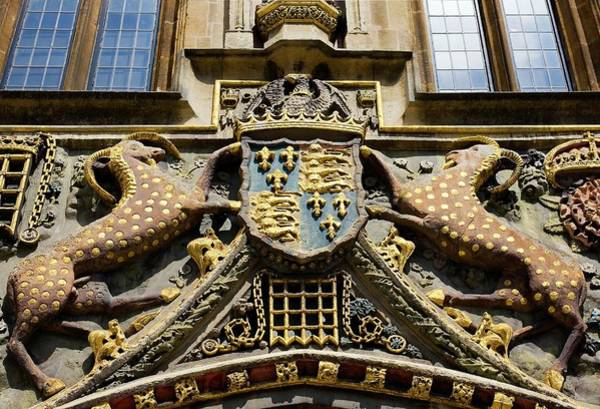 Beast Photograph - Arms Of Christ's College by Paul D Stewart