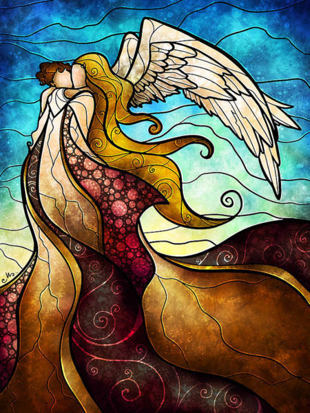 Mixed Media - Arms Of The Angel by Mandie Manzano