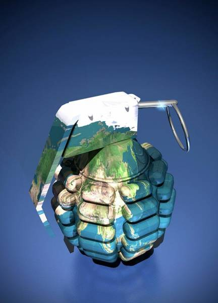 Grenade Wall Art - Photograph - Arms Race Conceptual Artwork by Victor Habbick Visions