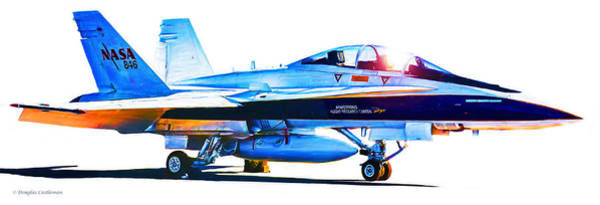 Digital Art - Armstrong Flight Research Center F-18 Hornet by Douglas Castleman