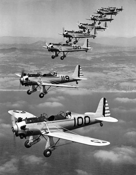 Aerobatics Wall Art - Photograph - Army Air Corp Planes by Underwood Archives
