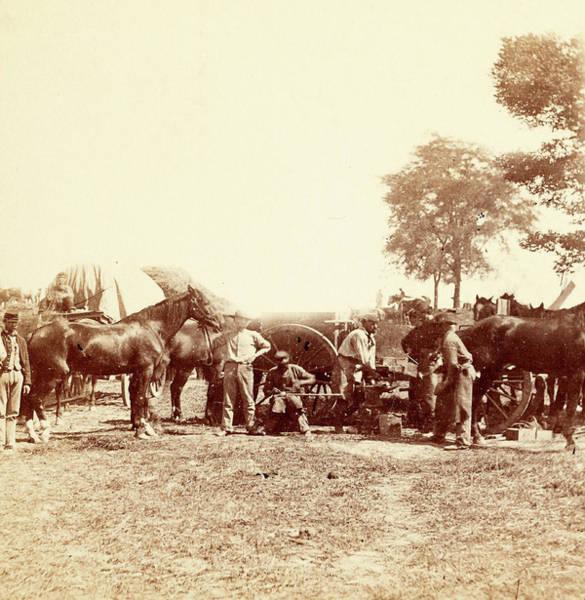 Antietam Photograph - Army Blacksmith And Forge, Antietam by Litz Collection