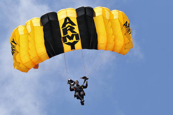 Photograph - Army Parachute Jumper by Bradford Martin