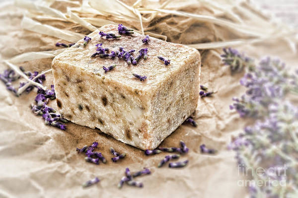 Photograph - Aromatherapy Natural Scented Soap And Lavender by Olivier Le Queinec