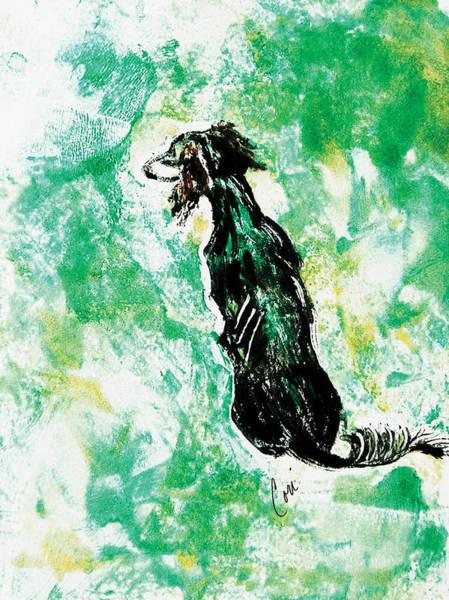 Sighthound Mixed Media - Around The Bend by Cori Solomon