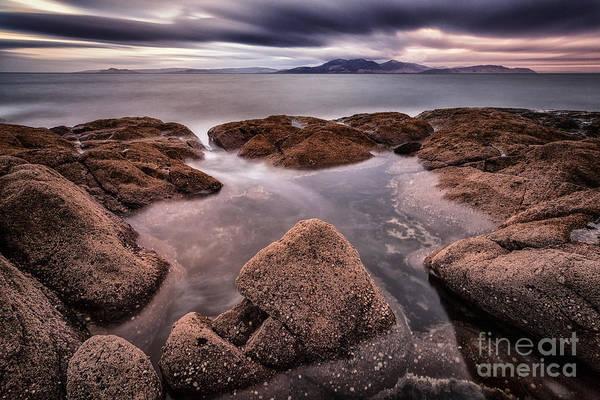 Ayrshire Photograph - Arran At Sunset by John Farnan