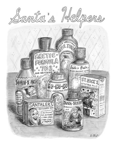 Fake Drawing - Array Of Fake Medicines And Products Designed by Roz Chast