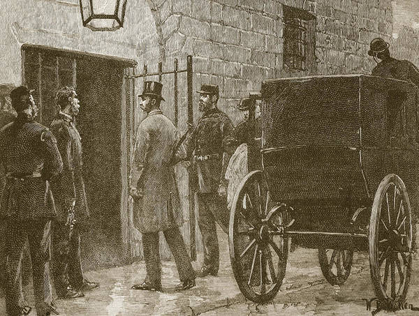 Entry Drawing - Arrival Of Mr Parnell At Kilmainham by William Barnes Wollen