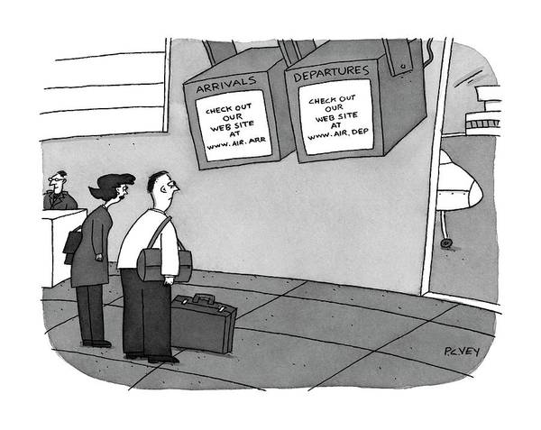 Internet Drawing - Arrivals: 'check Out Our Web Site by Peter C. Vey