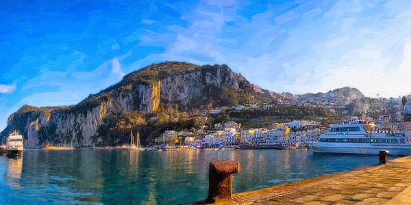 Photograph - Arriving In Marina Grande At Capri - Italian Panorama by Mark E Tisdale