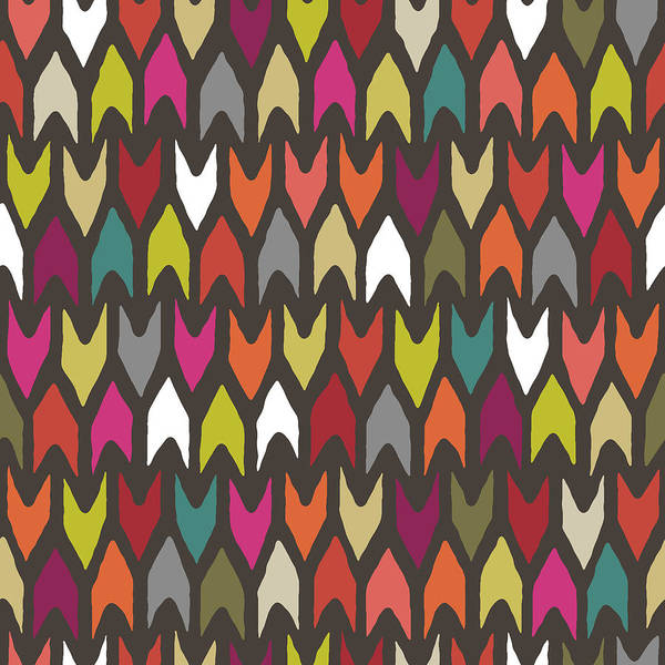 Wall Art - Painting - Arrow Multi Pattern by MGL Meiklejohn Graphics Licensing