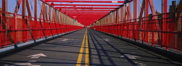 Williamsburg Bridge Photograph - Arrow Signs On A Bridge, Williamsburg by Panoramic Images