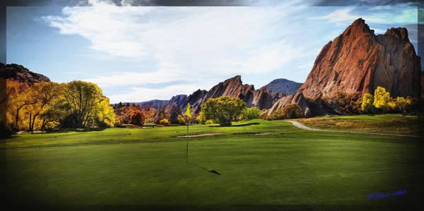 Photograph - Arrowhead Golf Club 14th Hole  by OLena Art - Lena Owens