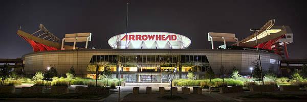 Chiefs Photograph - Arrowhead Night by Thomas Zimmerman