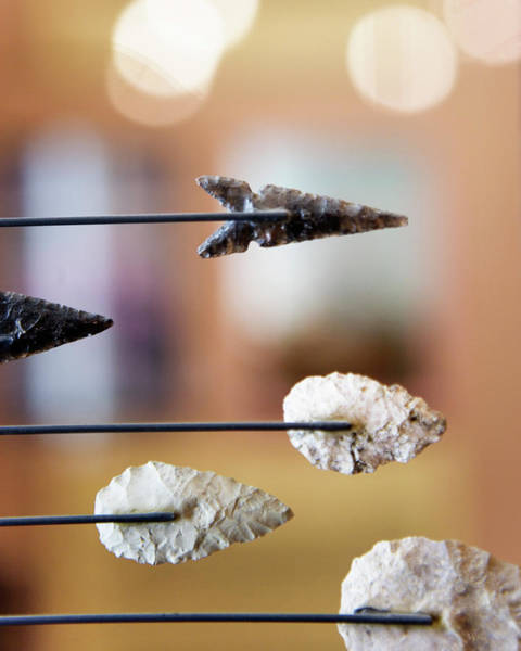 Furnace Creek Photograph - Arrowheads At The Borax Museum, Furnace by Ron Koeberer