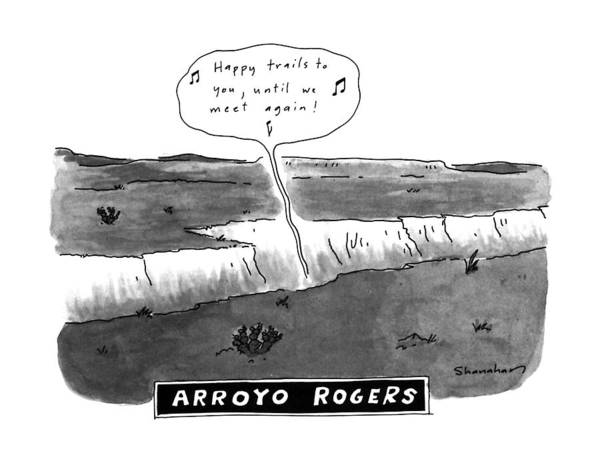 Obstacle Drawing - Arroyo Rogers by Danny Shanahan