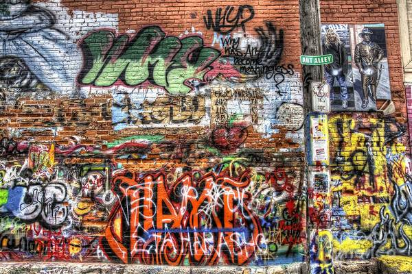 Photograph - Art Alley by Anthony Wilkening