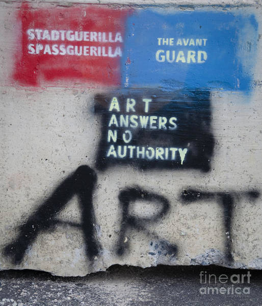 Photograph - Art Answers No Authority by Terry Rowe