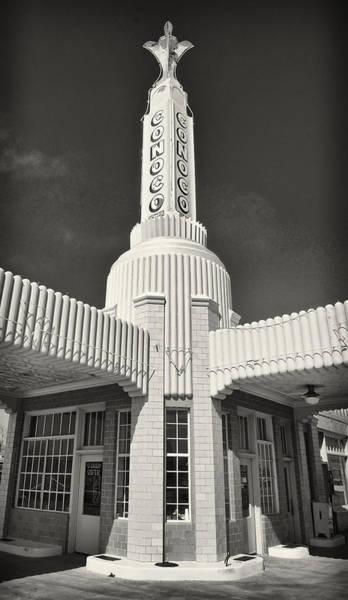 Photograph - Art Deco Gas Station Shamrock Texas by Mary Lee Dereske