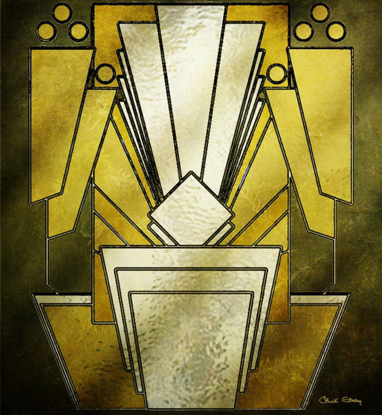 Digital Art - Art Deco - Metalic Glass by Chuck Staley