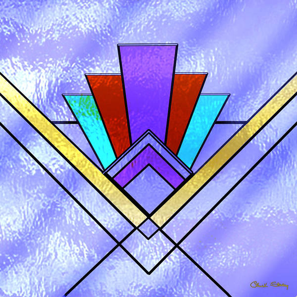 Digital Art - Art Deco - Pattern 3 by Chuck Staley