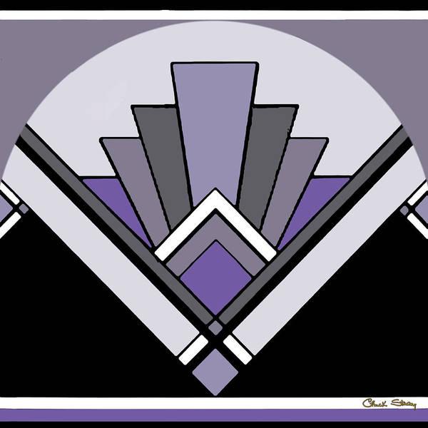 Art Deco Pattern Two - Purple Art Print