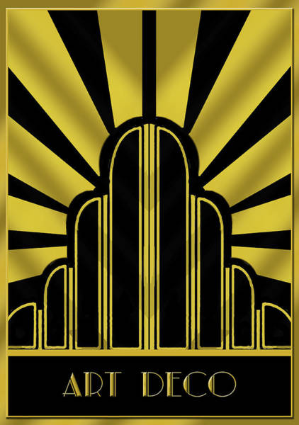 Title Digital Art - Art Deco Poster - Title by Chuck Staley