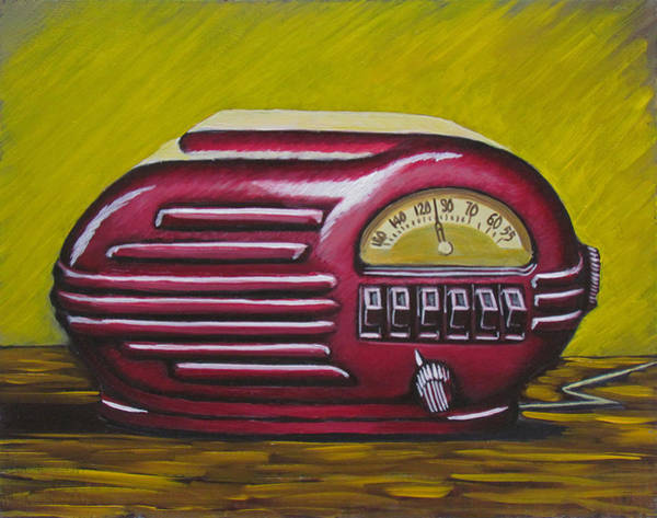Painting - Art Deco Radio by Kevin Hughes