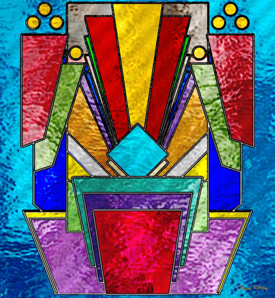 Digital Art - Art Deco - Stained Glass 6 by Chuck Staley