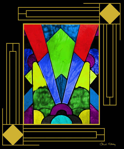 Digital Art - Art Deco - Stained Glass 2 by Chuck Staley